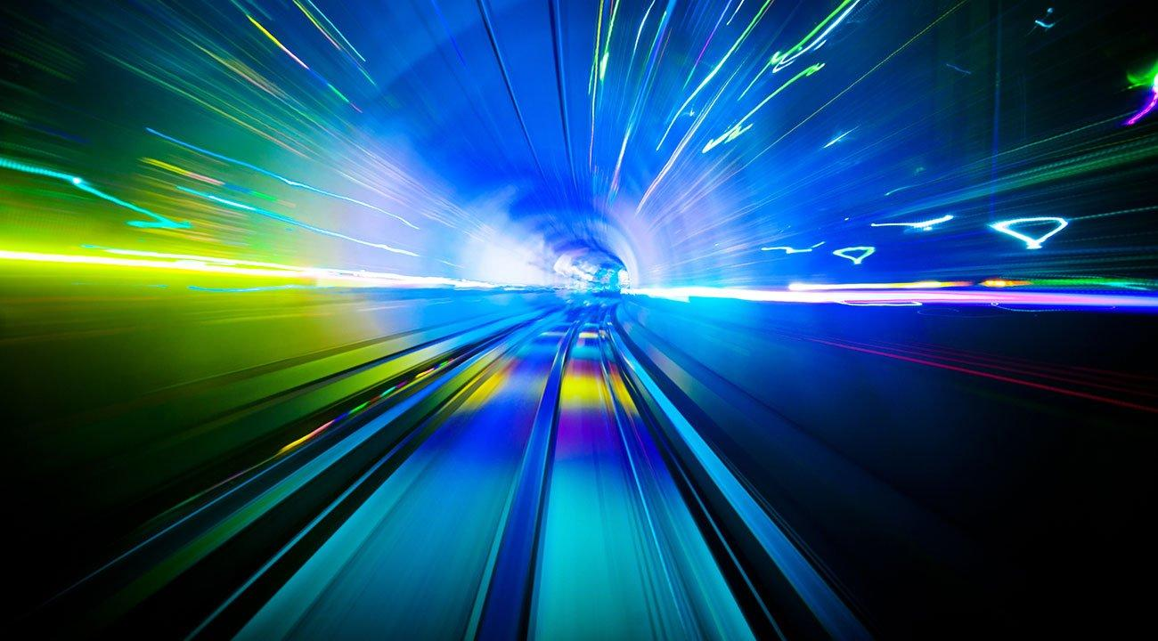 Abstract image of bandwidth speed